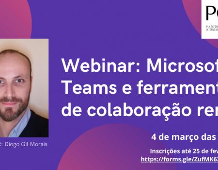 """WEBINAR: """"Microsft Teams e ferramentas de colaboração remota"""""""