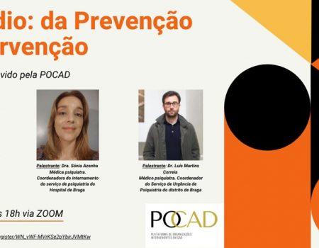 """Webinar """"Suicídio: da Prevenção à Intervenção"""""""