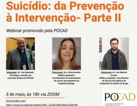 Webinar – Suicídio: da Prevenção à Intervenção – Parte II
